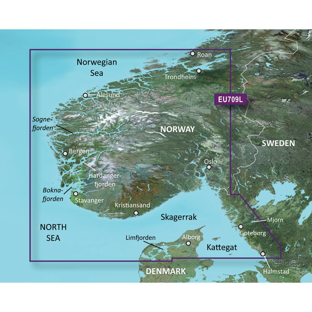 Electronic Cartography Navionics CMAP Garmin Vision Charts - Norway map for garmin