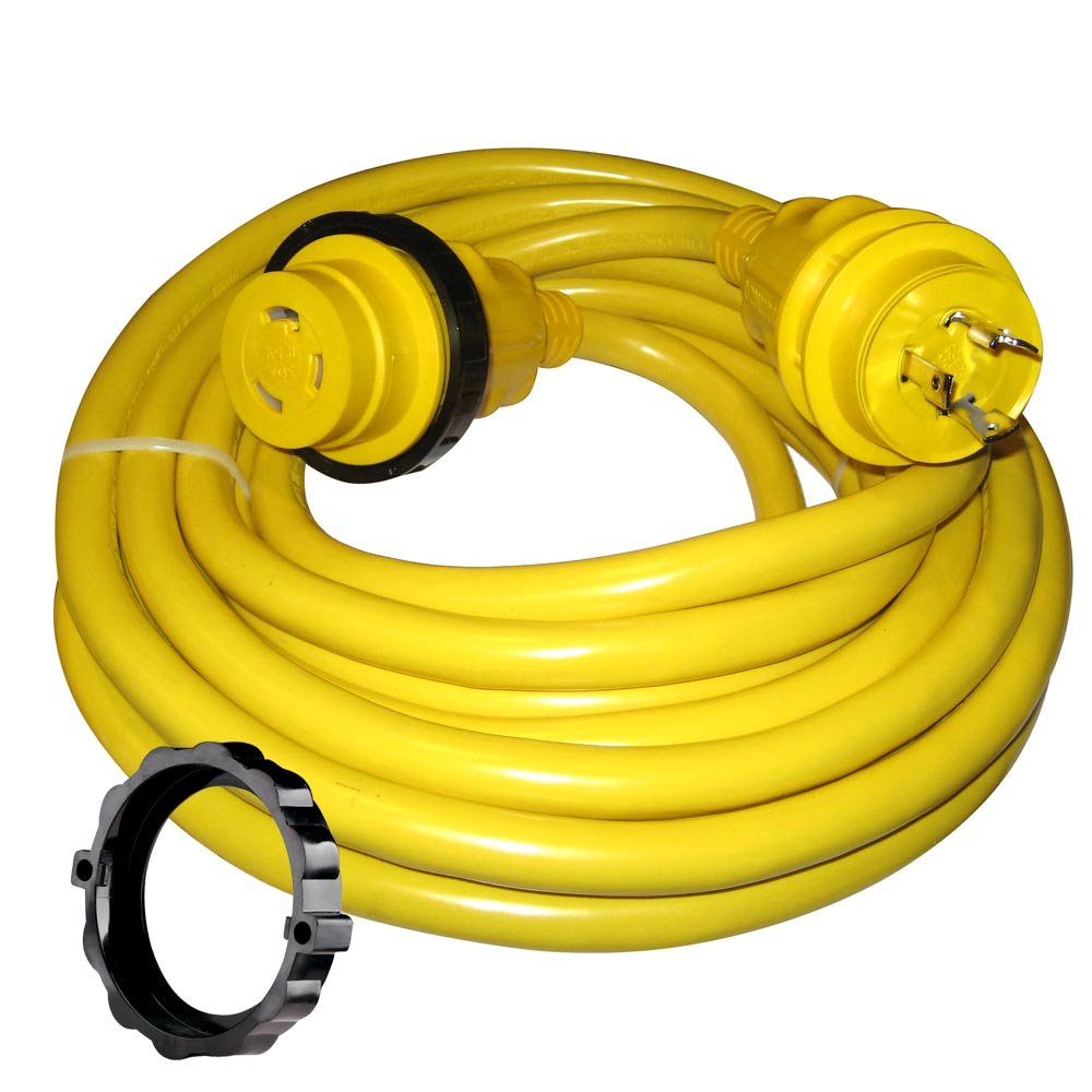 marinco 30 amp power cord plus cordset 35 39 yellow 35spp anchor express. Black Bedroom Furniture Sets. Home Design Ideas